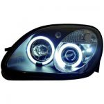 CCFL ANGEL EYES KOPLAMPEN MERCEDES SLK R170 Zwart